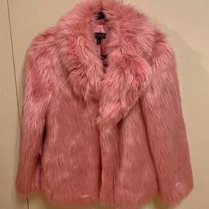 Faux Fur Pink Jacket